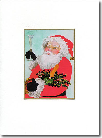 Santa and Champagne image