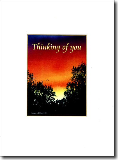 Silhouette Sunrise Thinking of You image