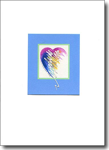 Sparkle Heart in Blue, valentines card