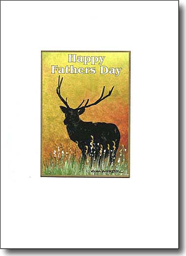 happy father's day stag image