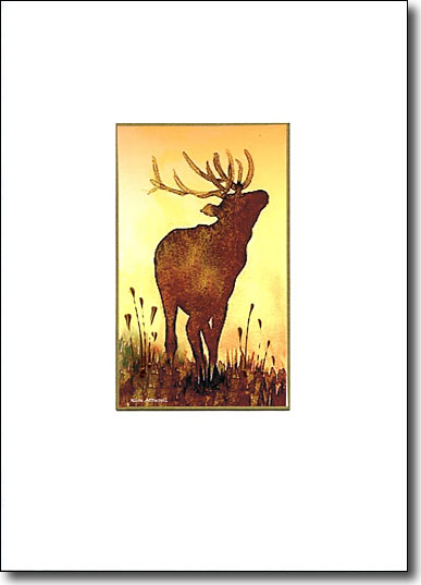 Stag on Gold image