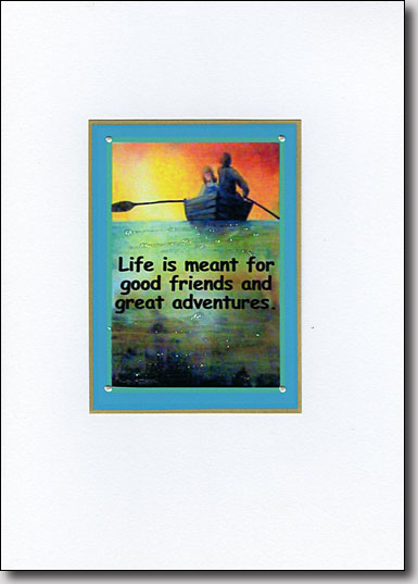 Two in a Boat Adventure Quote image
