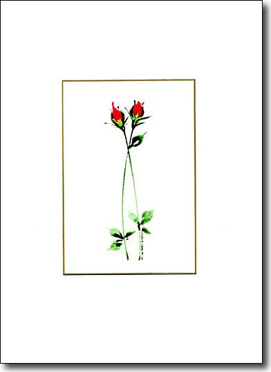 Two Roses, handmade card