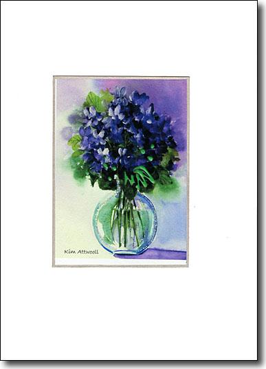 Violets in Vase image
