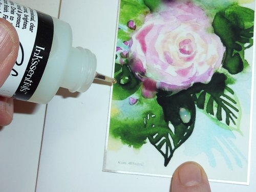 how to paint water drops, homemade greeting cards