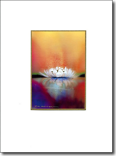Water Lily On Gold image