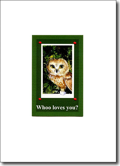 Whoo Loves You?, valentines card