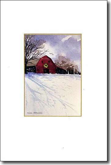 Barn with Wreath Image