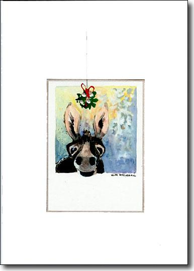 Donkey with Mistletoe image