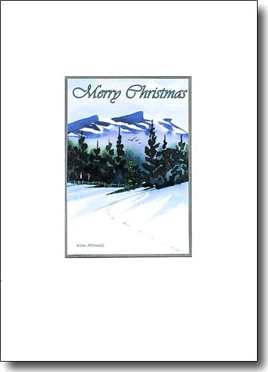 Holiday Landscape Merry Christmas image