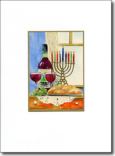 Menorah and Wine image