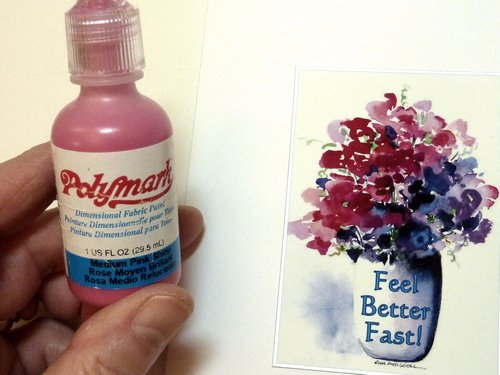 fabric paint, make your own cards
