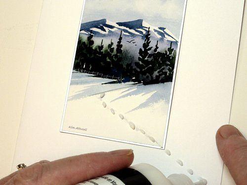 handmade greeting cards, fabric paint