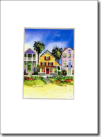 Three Colorful Cottages image