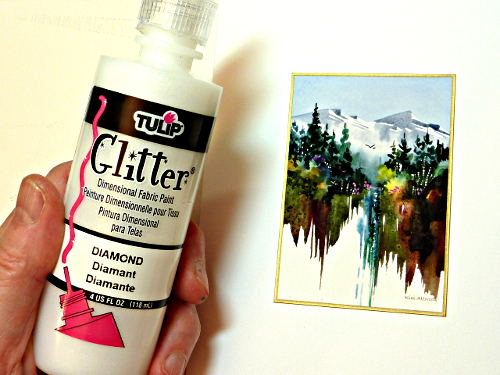 card making ideas, how to paint water